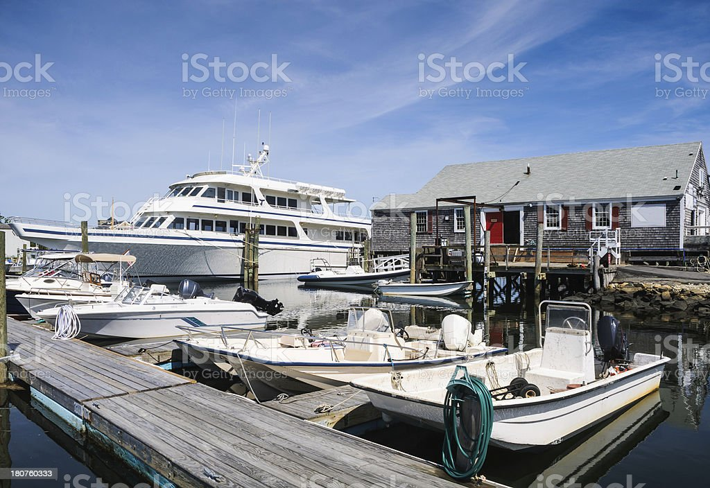 Barnstable Harbor Marina royalty-free stock photo