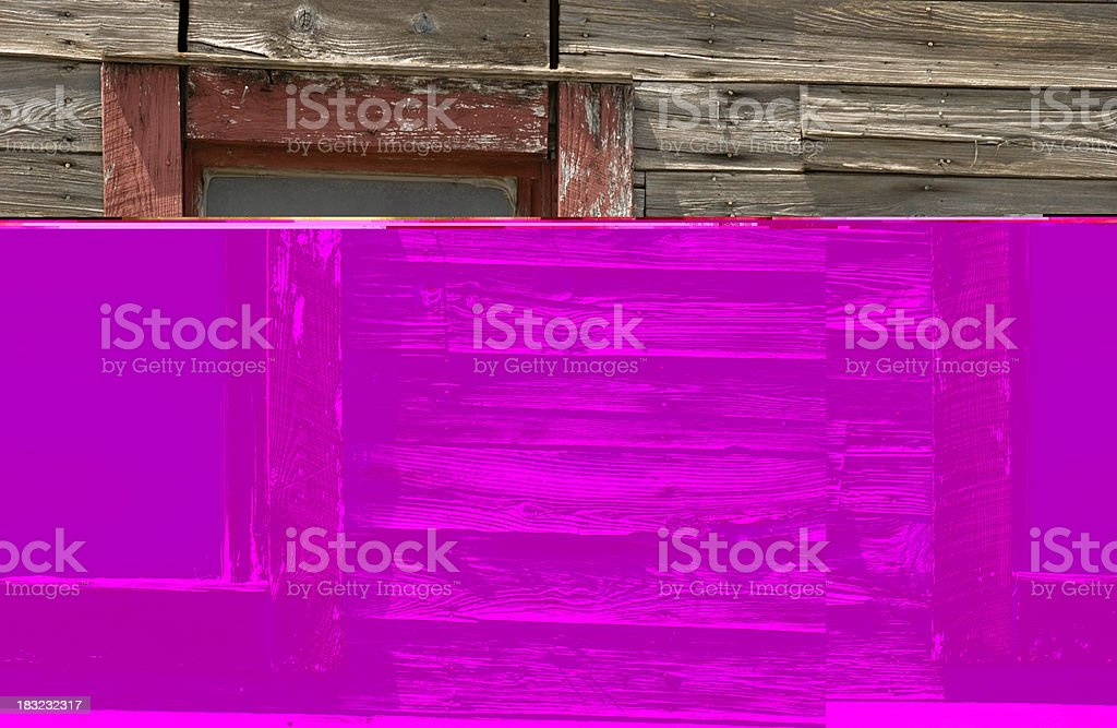 Barnwood and Old Window royalty-free stock photo