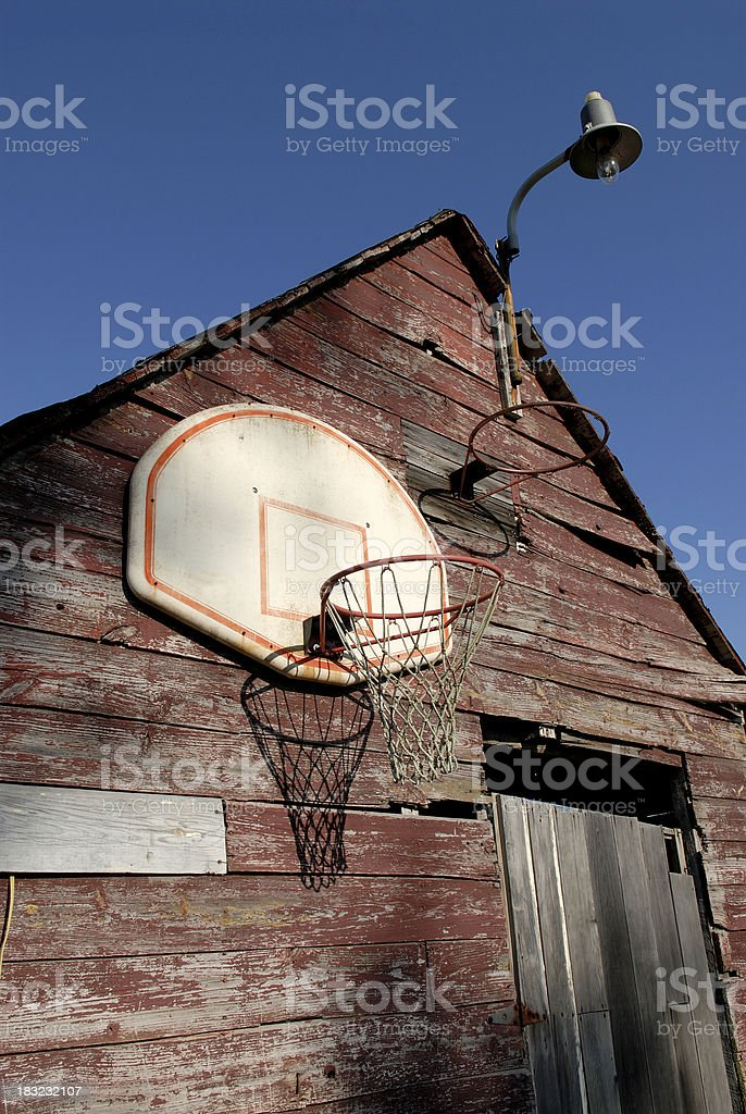 Barnyard Hoops stock photo