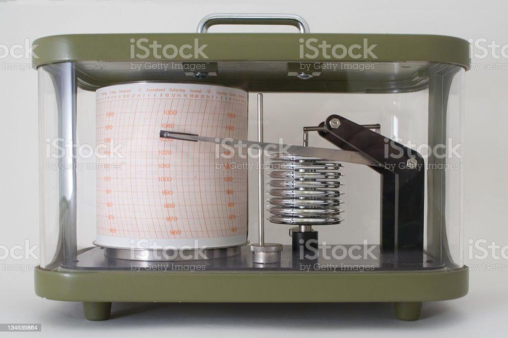 Barograph stock photo