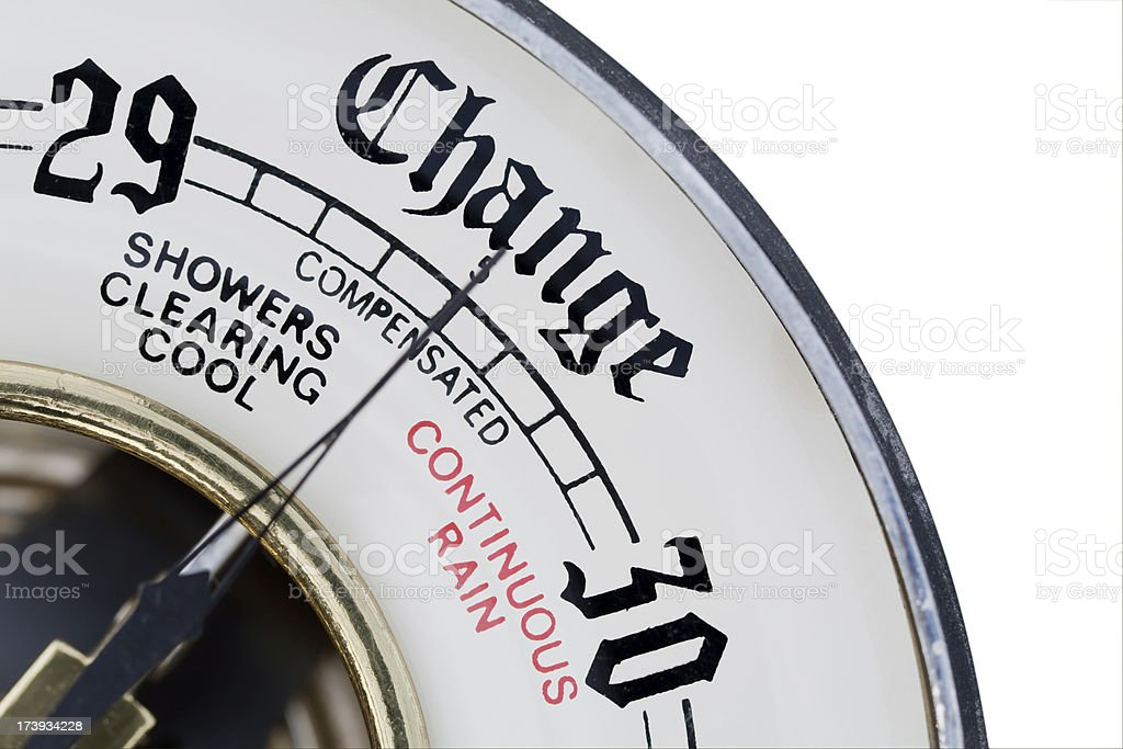 Barometer as metaphor for change royalty-free stock photo