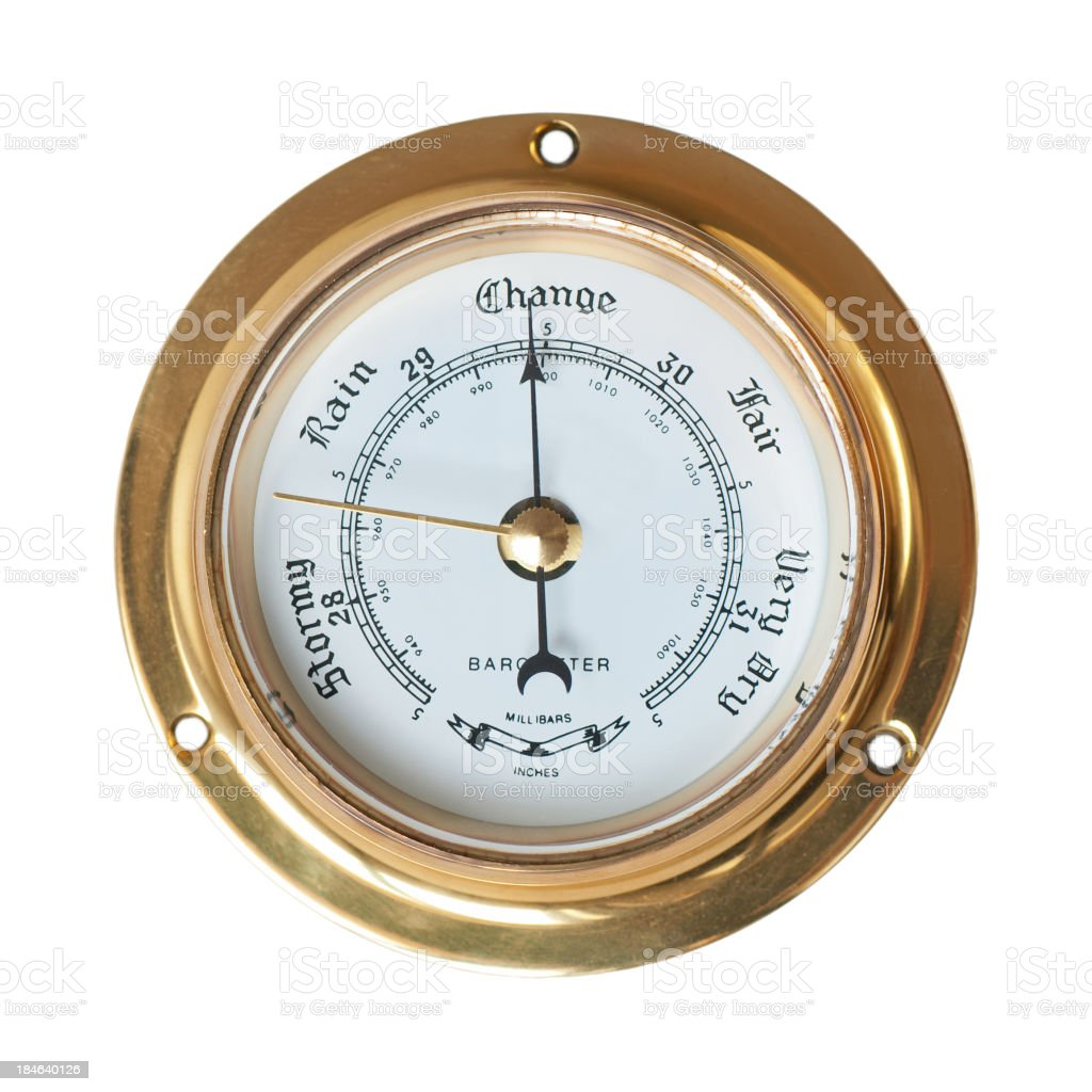 Barometer - Change in weather stock photo