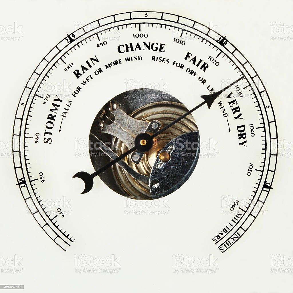 Barometer dial very dry stock photo