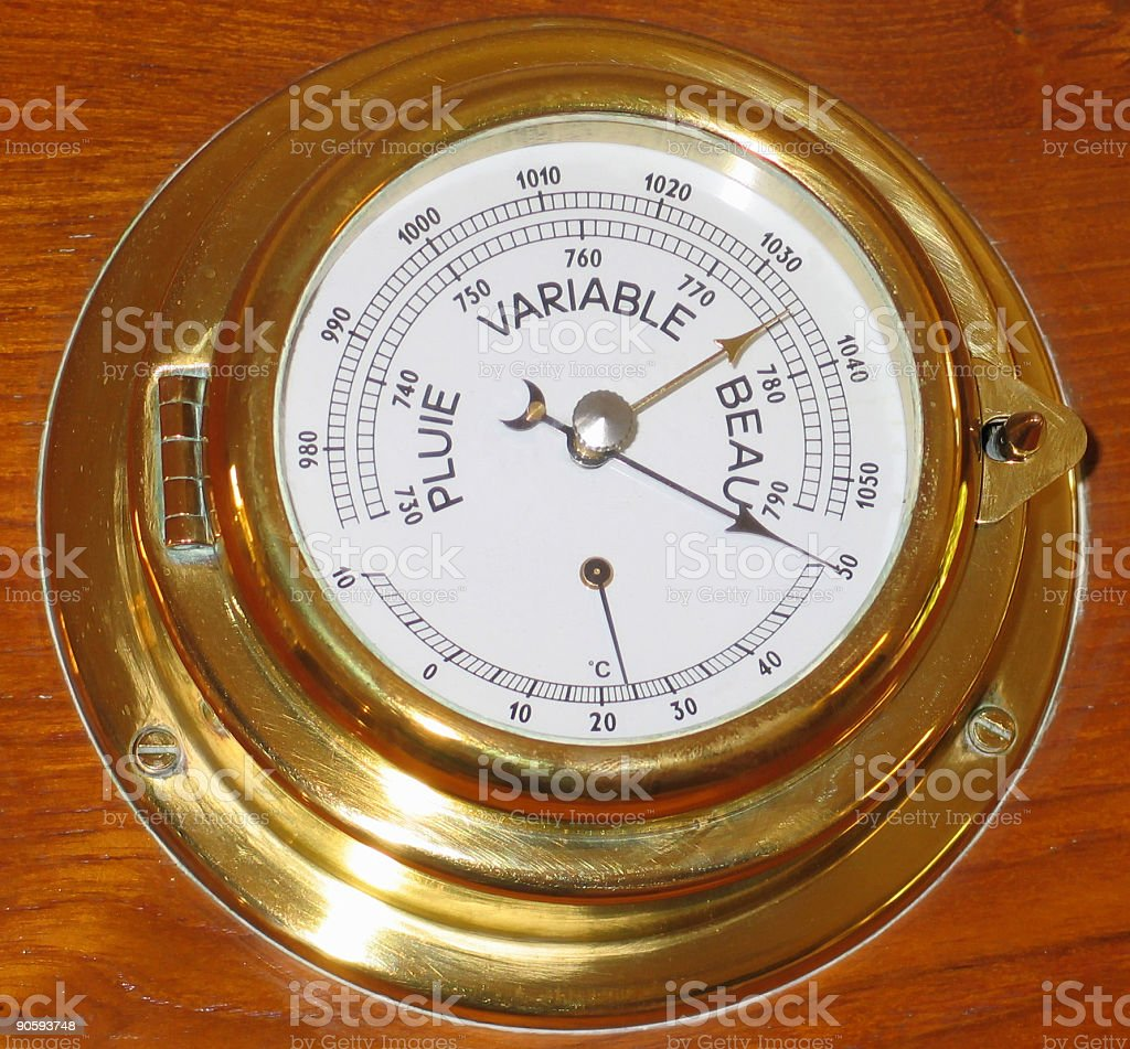 Barometer French royalty-free stock photo