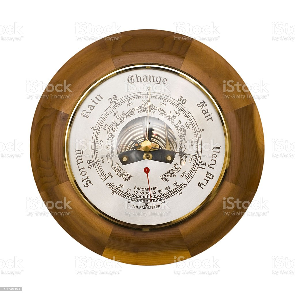 Barometer isolated royalty-free stock photo