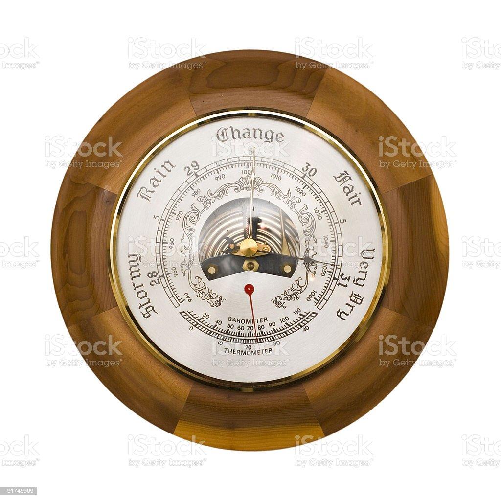 Barometer isolated stock photo