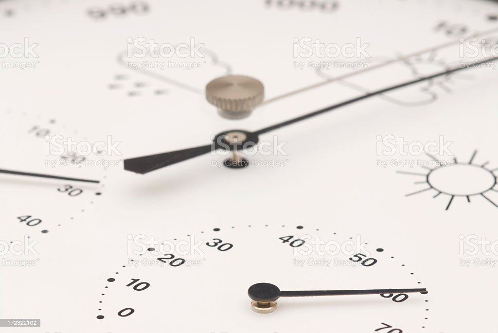 Barometer with Hygrometer and Thermometer royalty-free stock photo
