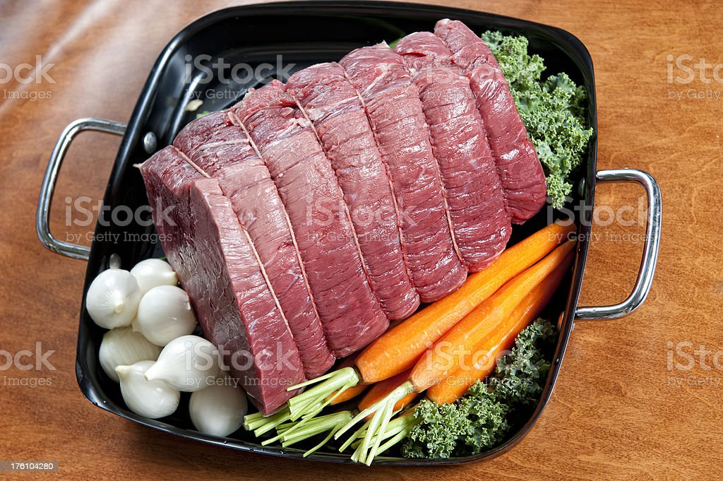 Baron of Beef Pot Roast royalty-free stock photo