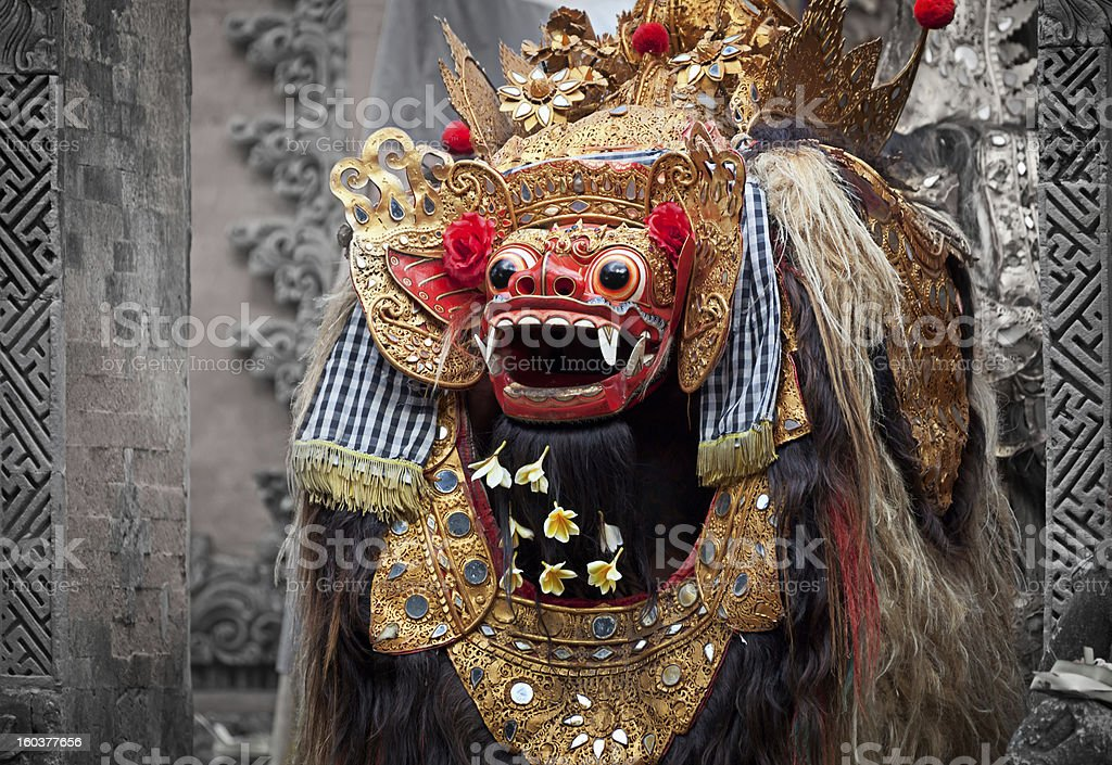 Barong - character in the mythology of Bali, Indonesia. stock photo
