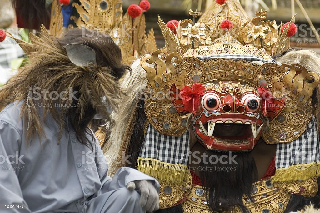 Barong dance Bali Indonesia stock photo
