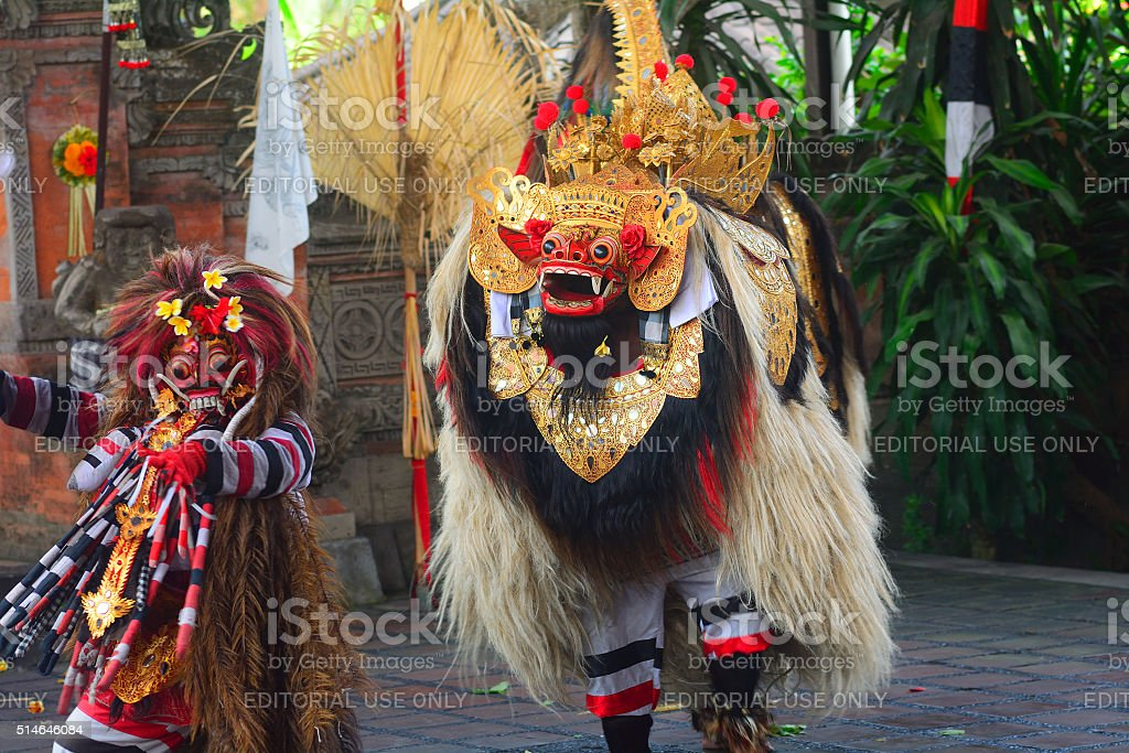 Barong dance, Batibulan, Bali, Indonesia stock photo