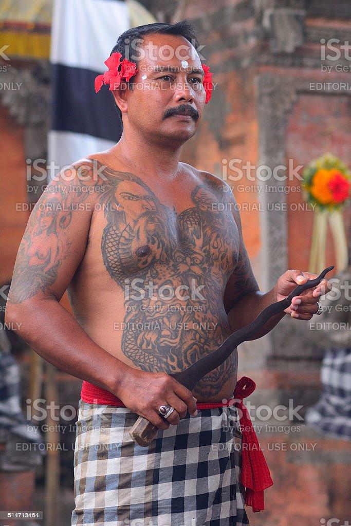 Barong dance, Batibulan, Bali, Indonesia stock photo