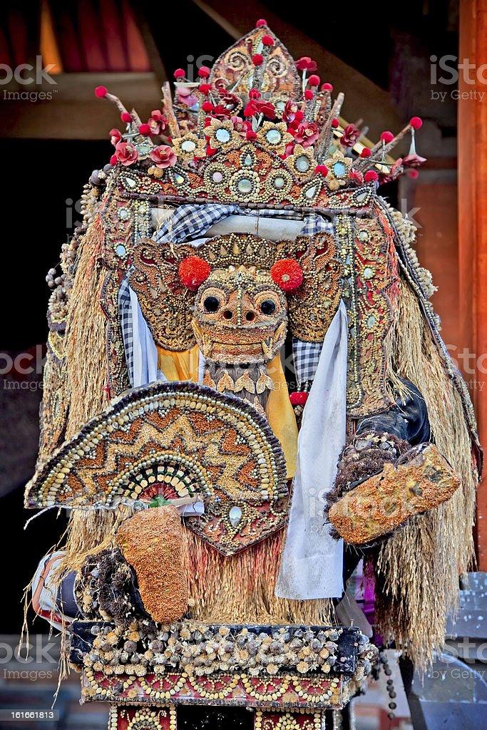 Barong dance mask of lion, Ubud, Bali royalty-free stock photo