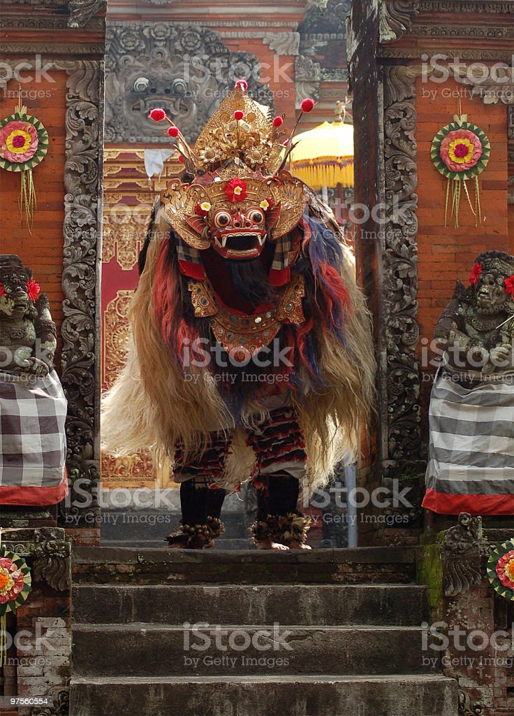 Barong dance on Bali stock photo