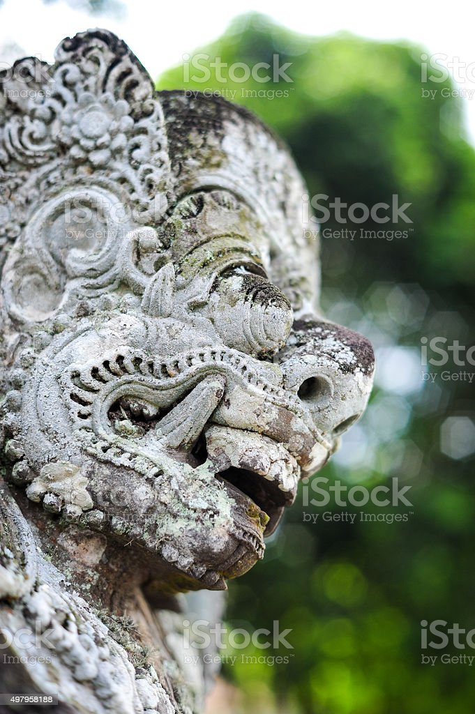 Barong head stock photo