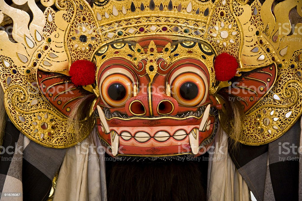 Barong mask stock photo