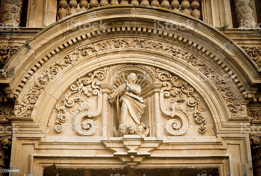 Baroque Arch and Sculpture royalty-free stock photo