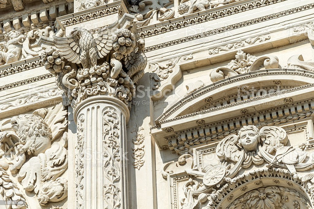 Baroque architecture detail in lecce italy stock photo for Italian baroque architecture