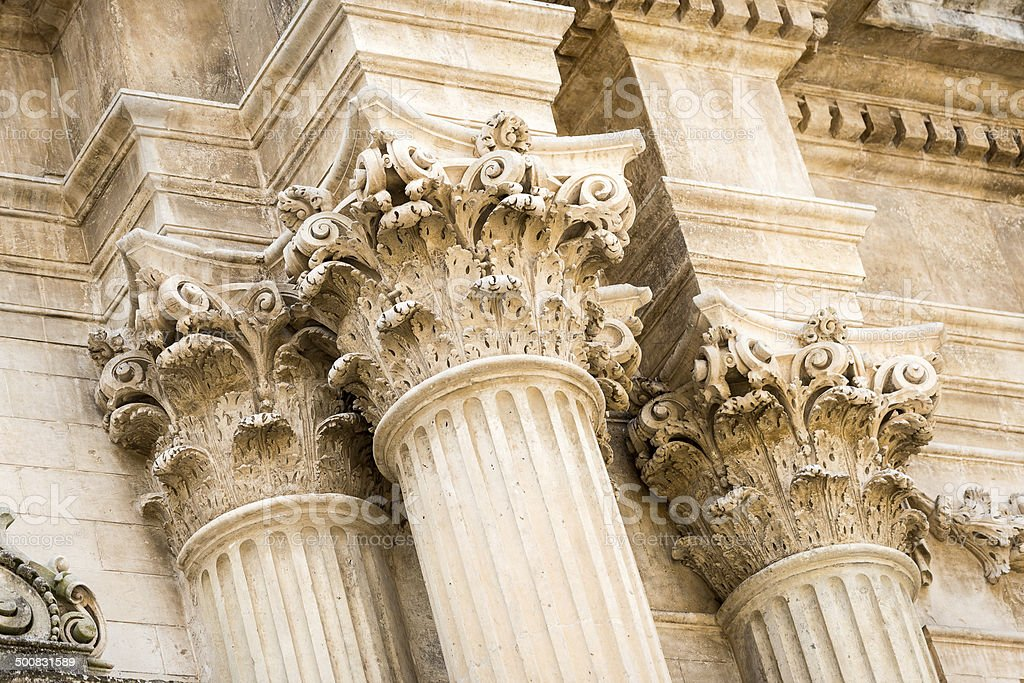 Baroque architecture detail in lecce italy stock photo for Architecture baroque