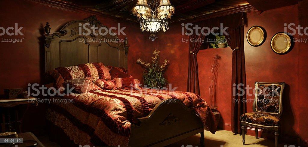 Baroque bedroom royalty-free stock photo