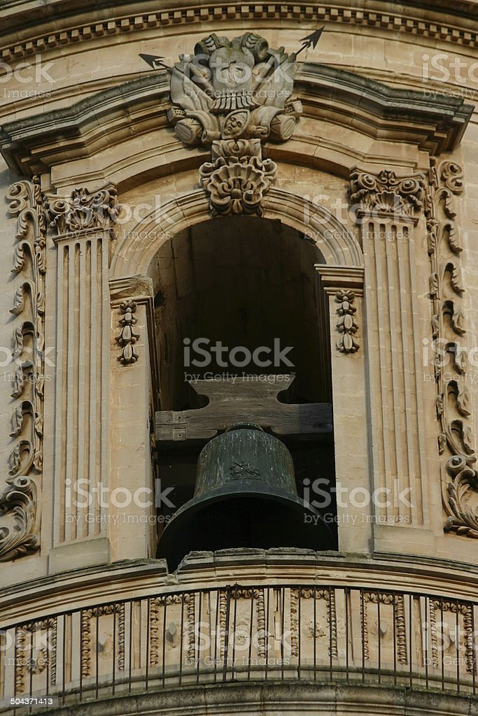 Baroque bell tower stock photo