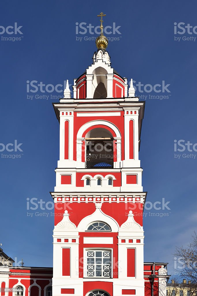 Baroque bell tower (1818) stock photo
