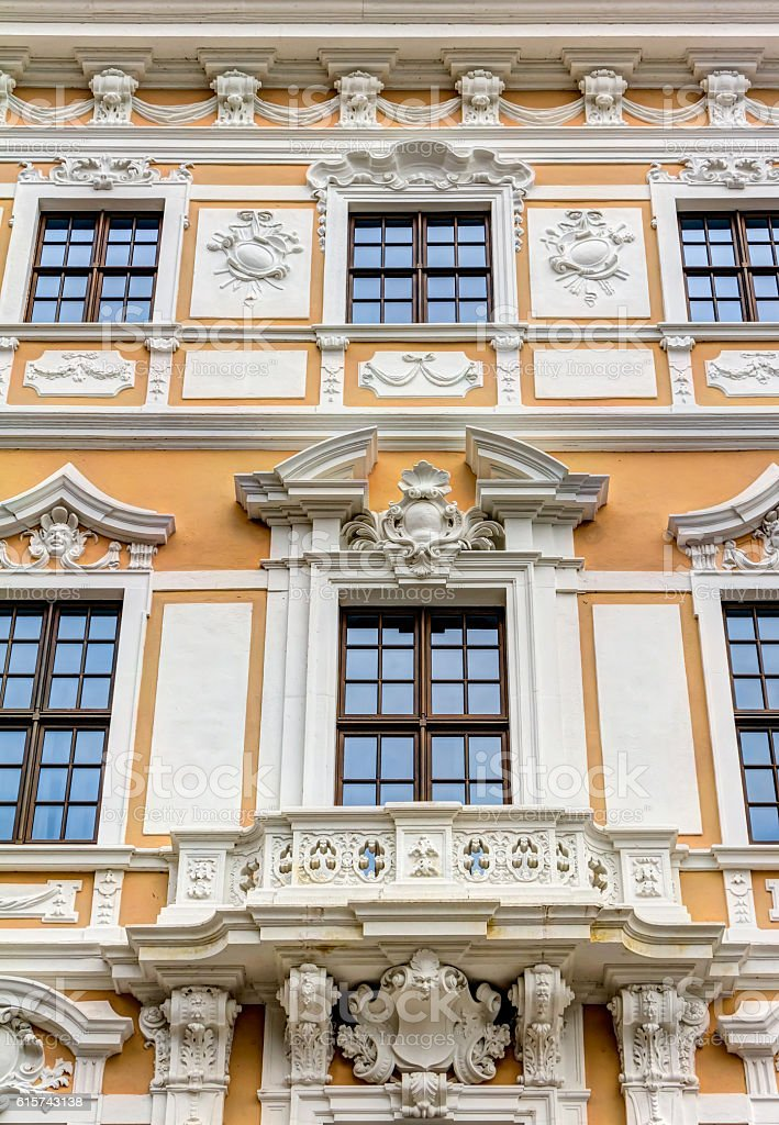 Baroque building in Dresden stock photo