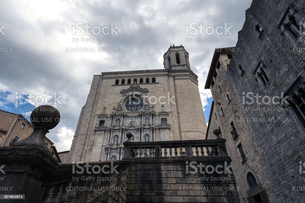 Baroque cathedral facade stock photo
