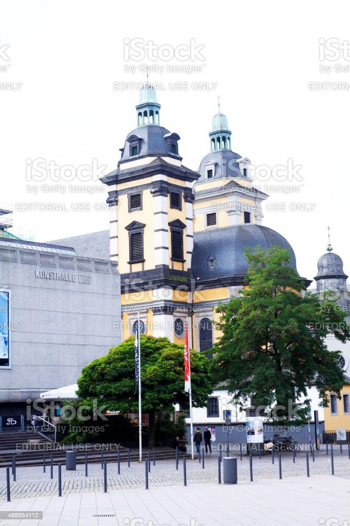 Baroque church Andreaskirche at Grabbeplatz in D?sseldorf stock photo