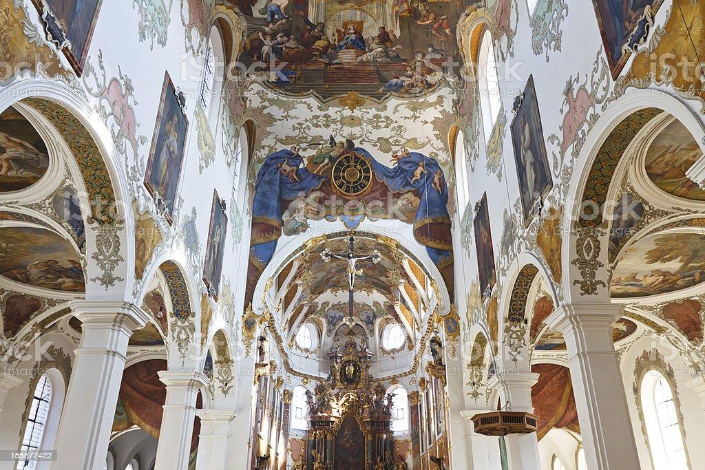 Baroque Church in Biberach, Germany stock photo
