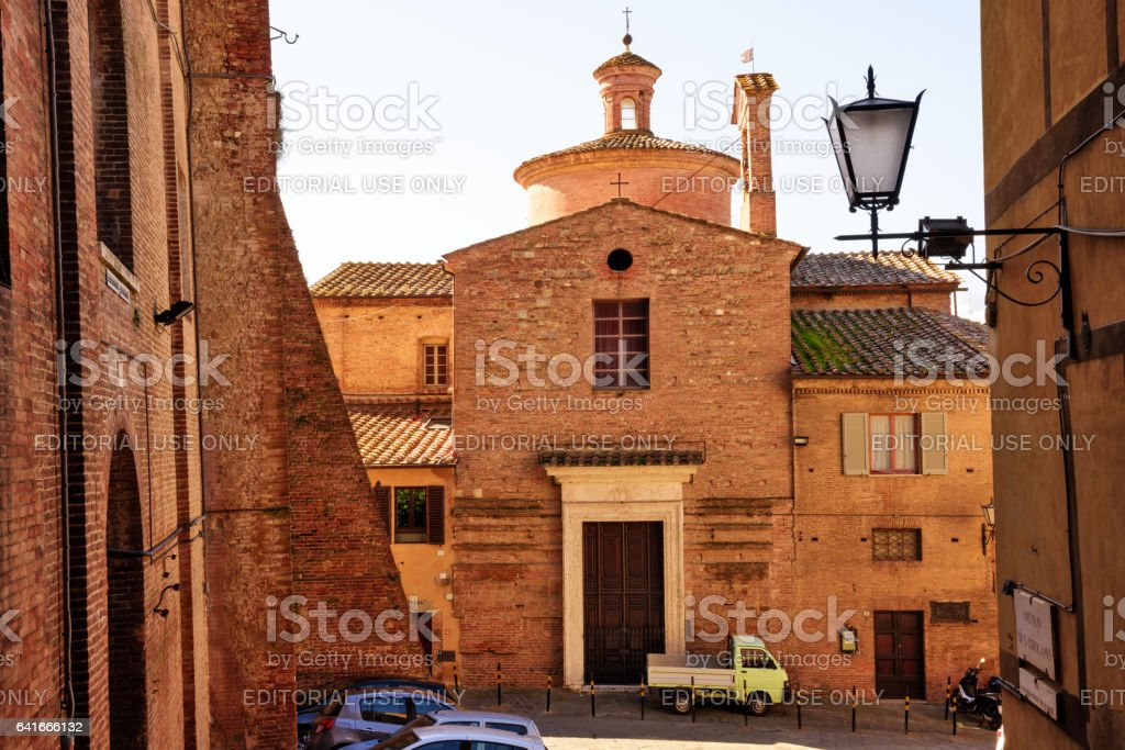 Baroque Church in Siena, Tuscany, Italy stock photo