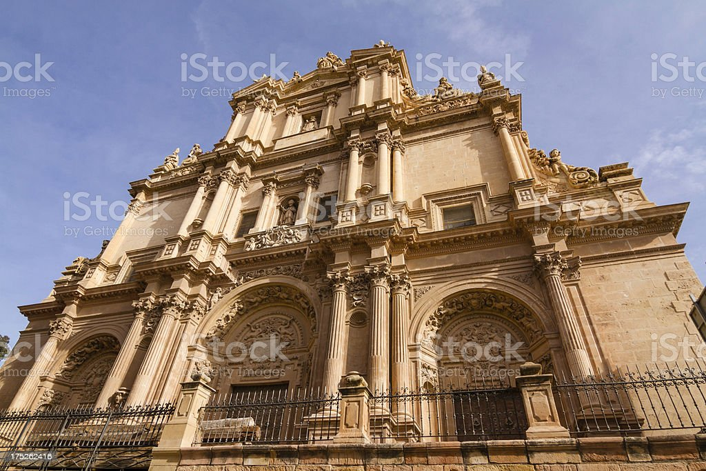 Baroque church in Spain royalty-free stock photo