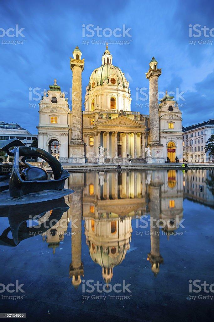Baroque church Karlskirche in Vienna Austria stock photo