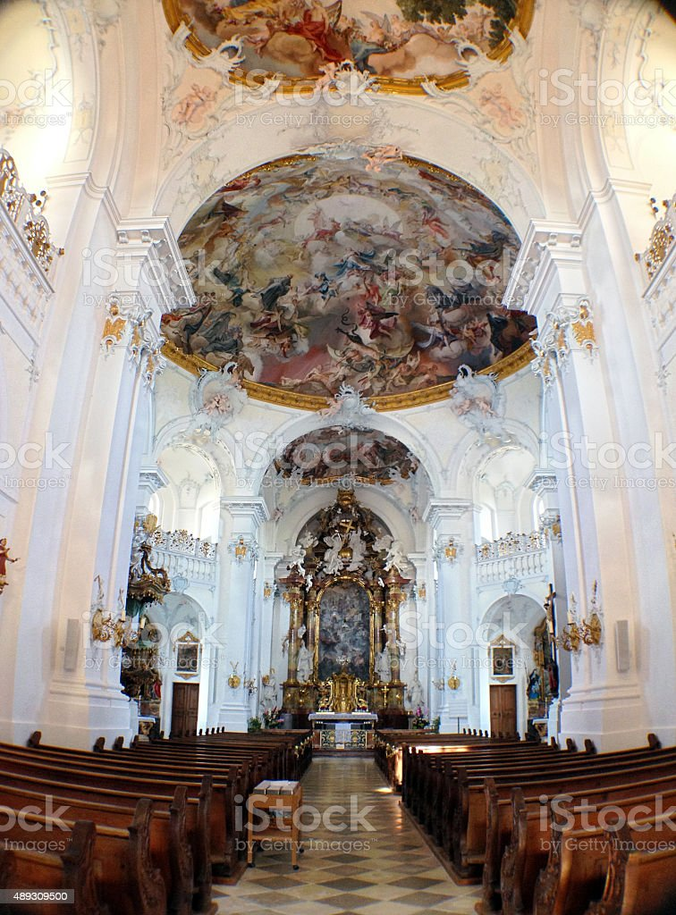 Baroque Church Rott am Inn, Bavaria stock photo