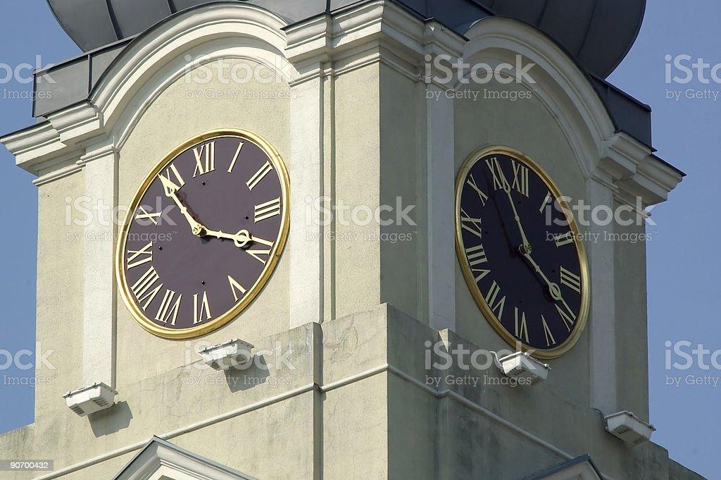 Baroque Tour de l'horloge photo libre de droits