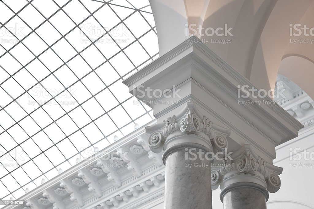 Baroque column royalty-free stock photo