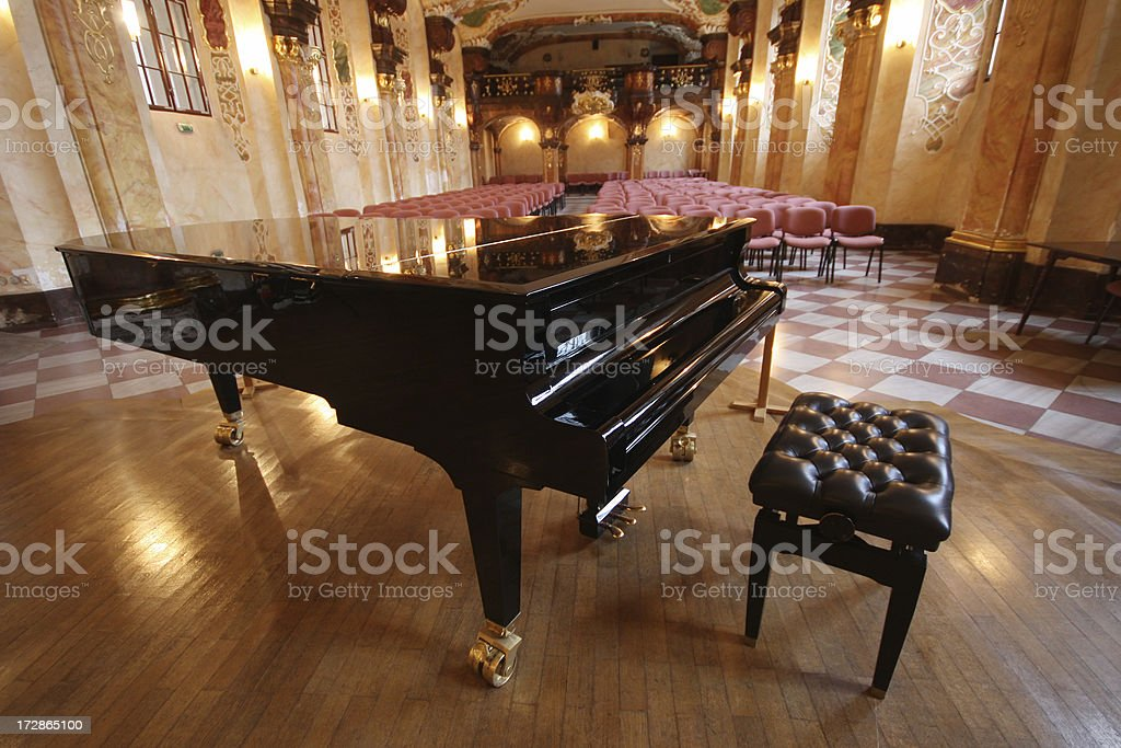 Baroque concert hall stock photo