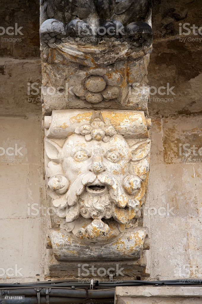 Baroque entablature, Lecce – Italy royalty-free stock photo