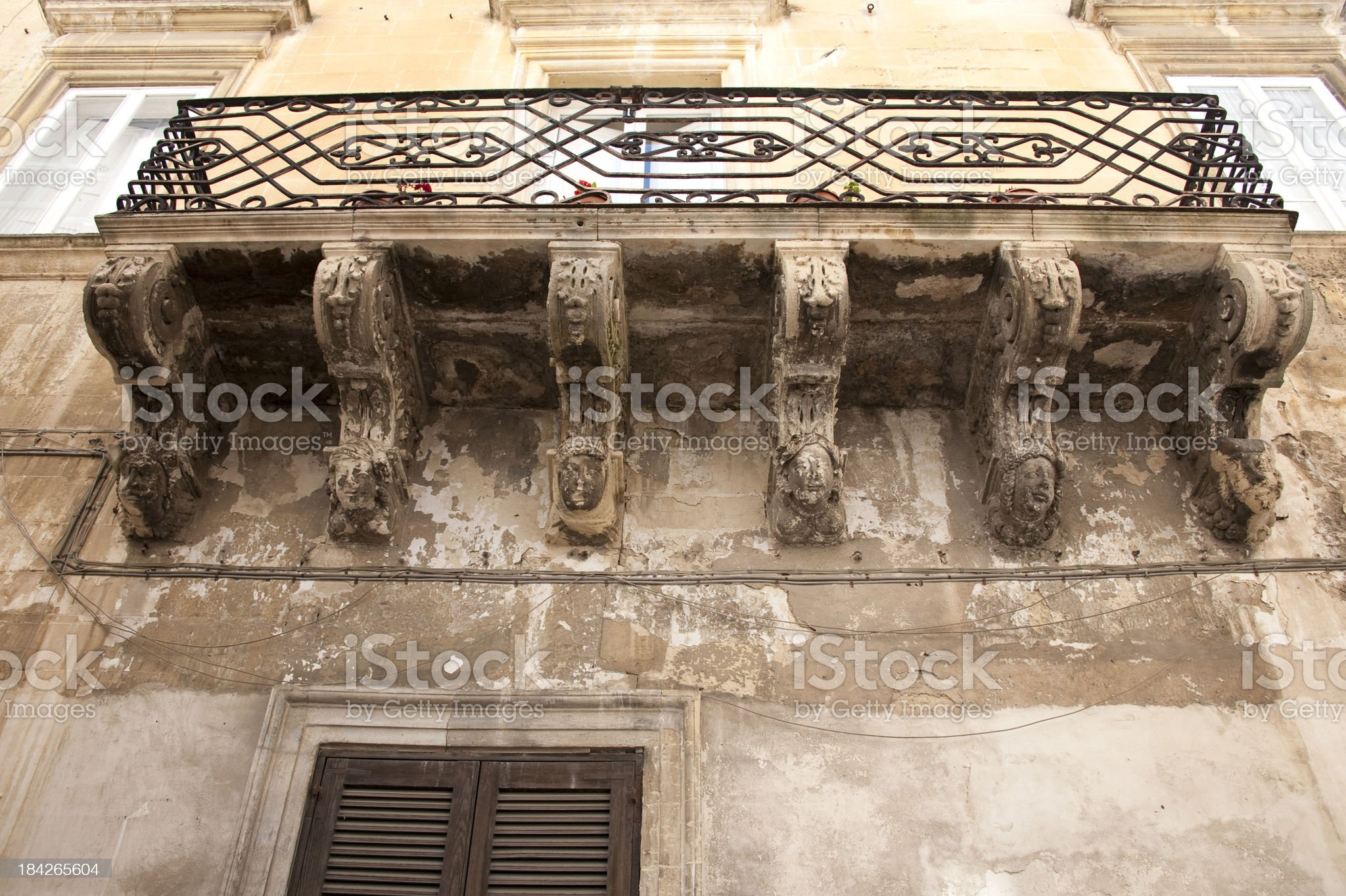 Baroque entablature, Lecce,  Italy,. royalty-free stock photo