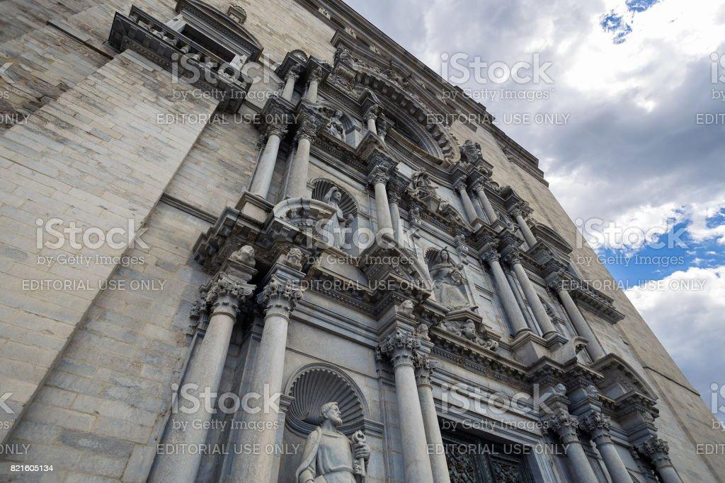 Baroque facade cathedral stock photo