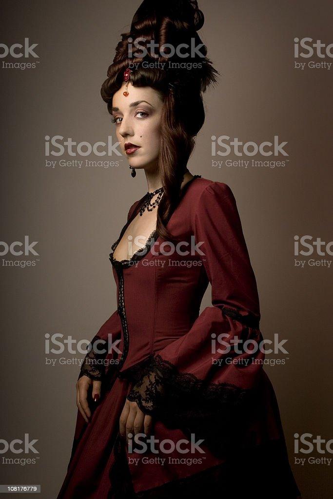 Baroque fashion beauty royalty-free stock photo