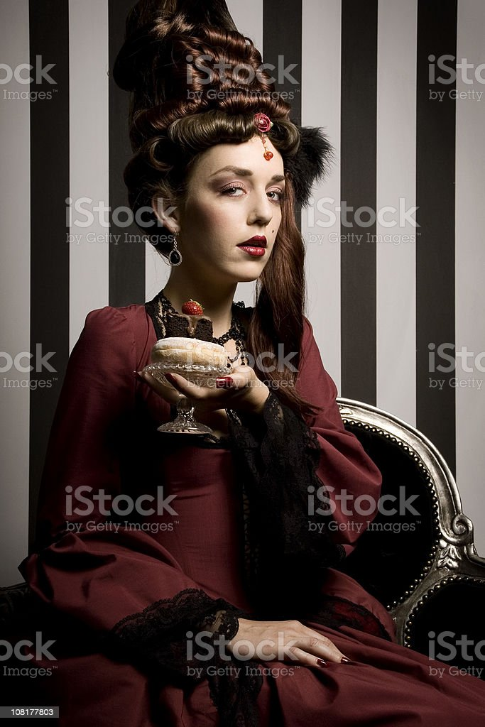 Baroque fashion beauty royalty-free stock photo