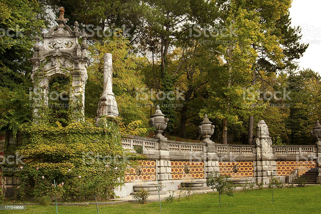 Baroque fence in Massandra Palace royalty-free stock photo
