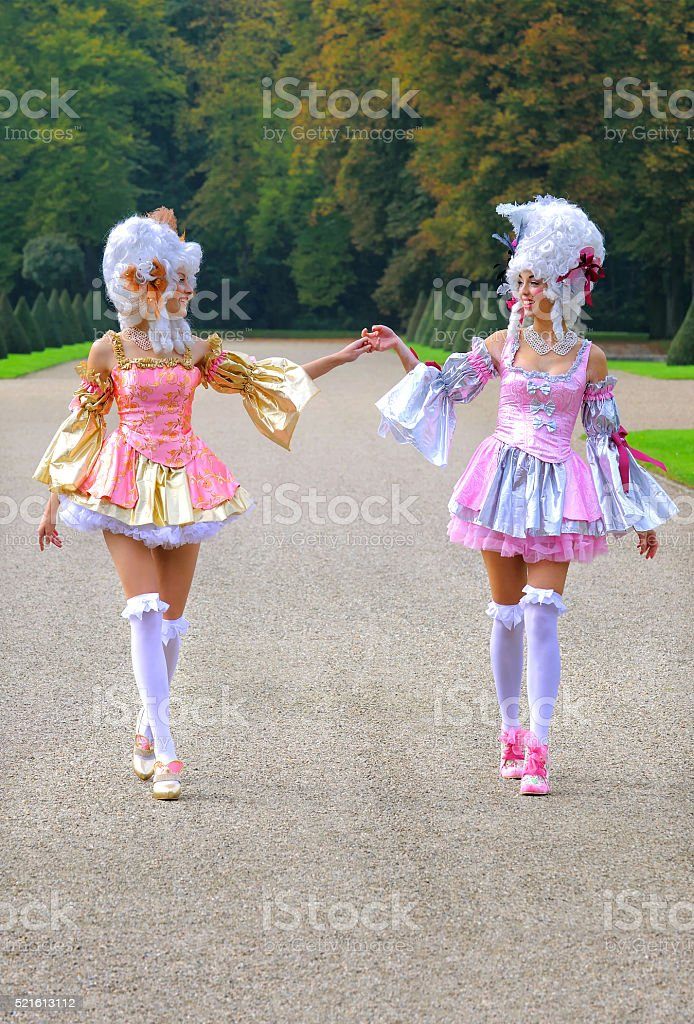 Baroque Girlfriends one stock photo