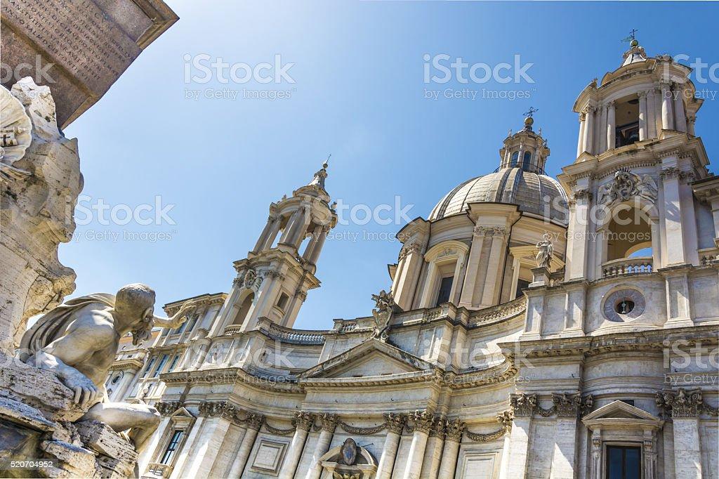Baroque in Rome stock photo