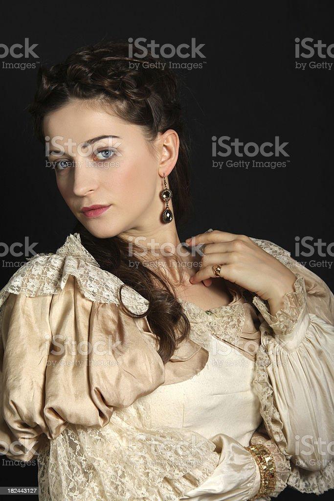 Baroque lady royalty-free stock photo