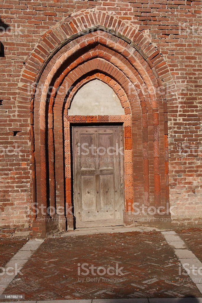 Baroque Piedmont Church Door royalty-free stock photo