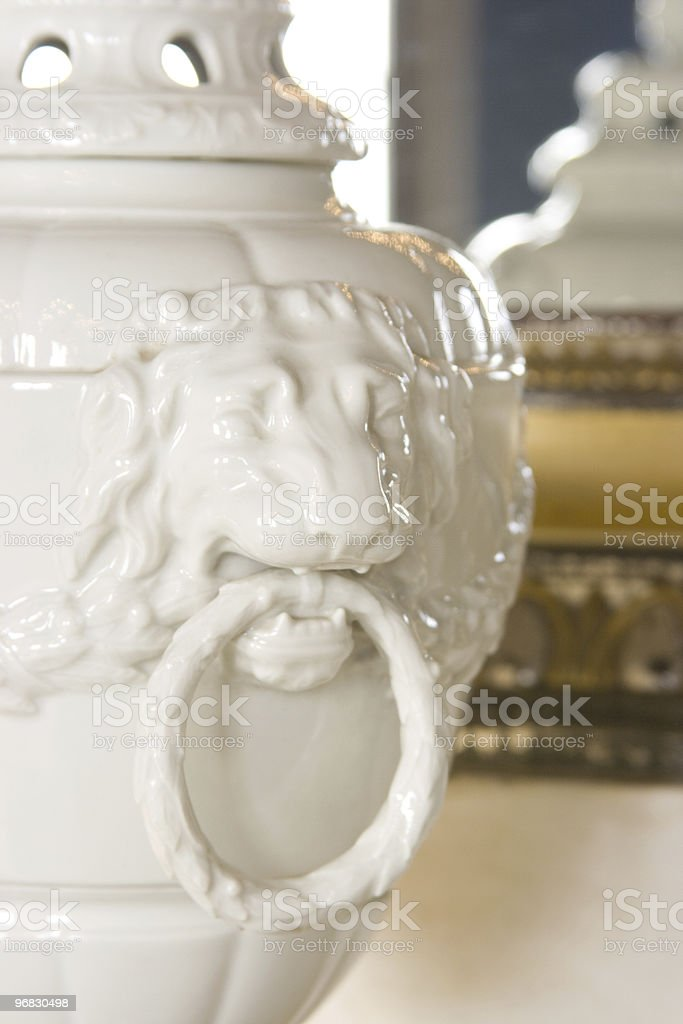 baroque porcelain vase with lion royalty-free stock photo