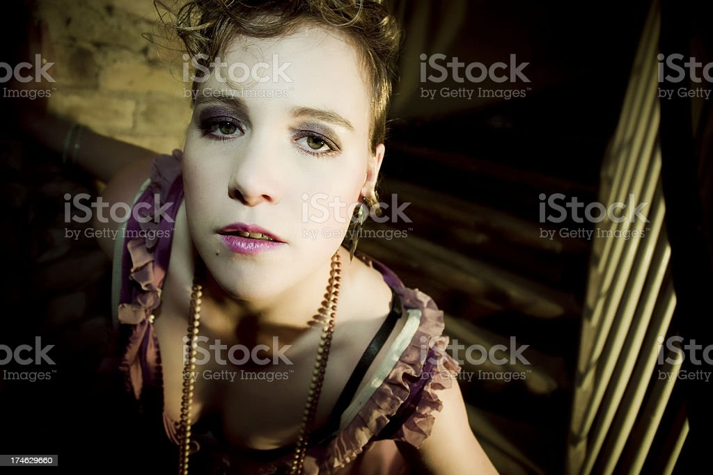 baroque portrait royalty-free stock photo