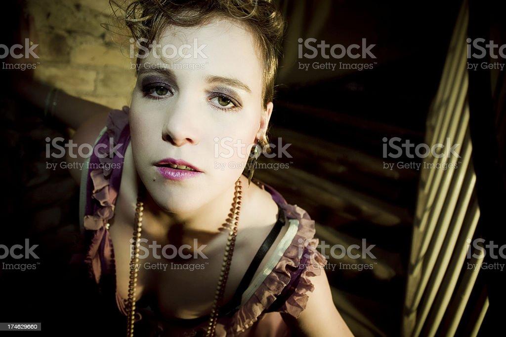 baroque portrait stock photo